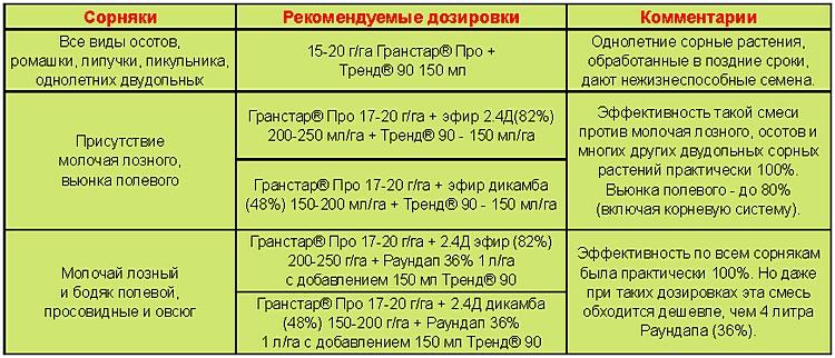 Таблица для Гранстар Про_2