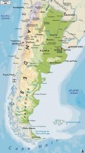 Карта Аргентины. Фото: mapsfinder.ru