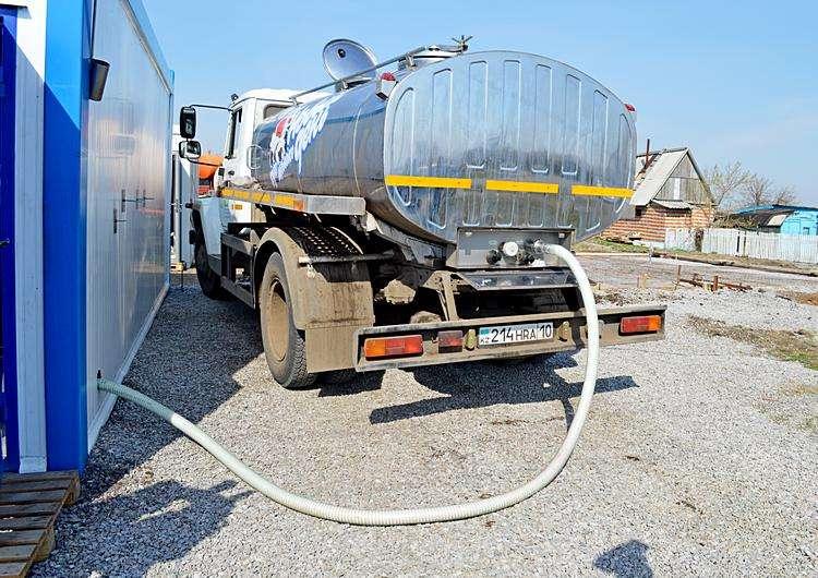 Перелив молока из молоковоза в танкер-охладитель. Фото: АгроИнфо