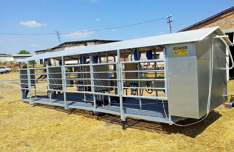 Фото 3. Мобильный доильный зал на 6 коров одновременной дойки