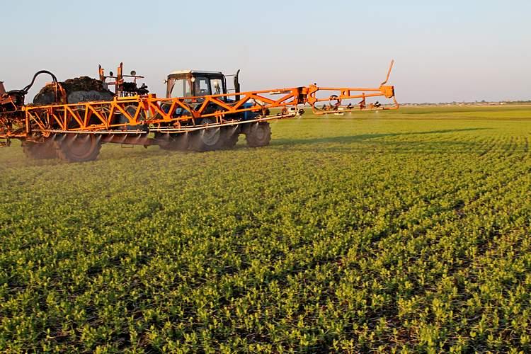 Фото 3. Химическую обработку гороха провели 20 июня прицепным опрыскивателем Jacto BK 3024 / Фото: ©ТОО «Август-Казахстан»