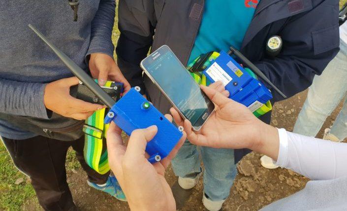 Решение состоит из передатчика, приемника и смартфона / Фото: news.samsung.com/kz_ru