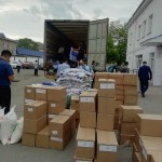 Первый караван с гуманитарным грузом отправился из СКО в Арысь