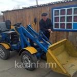 Школьный учитель сконструировал и собрал 7 тракторов в Павлодарской области